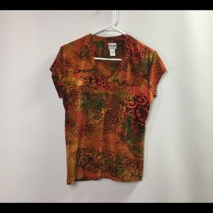 Chico's Top women's size 8M red multi sexy.     #2